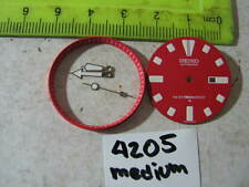 Red Dial Hands Minute Marker Ring SET NEW made for SEIKO DIVER 4205 Medium