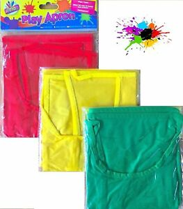Kids Play Waterproof Apron Children Art Craft Messy Painting Cover WipeClean D37