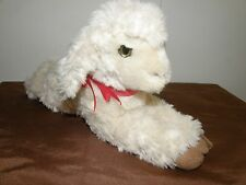 Steiff lamb floppy lamby sheep with button and flag made in Germany.