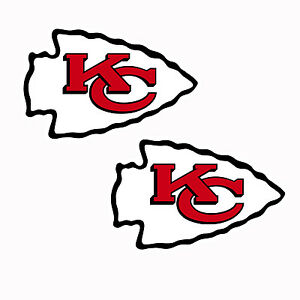 "Set of 2  Kansas City Chiefs Cornhole Board Decals NEW ""17 x 10""  indoor/outdoor"