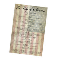 The American Flag Background with the Pledge of Allegiance Wall Poster