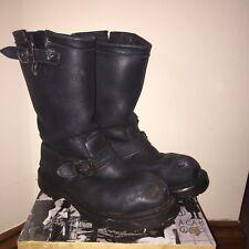 Vegetarian Shoes Engineer boots Vegan Punk Boots Steel Toe Crust