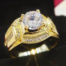 1.80 CT Men's 14K Yellow Gold Finish Diamond Engagement Wedding Band Pinky Ring