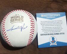 ADDISON RUSSELL signed 2016 World Series Baseball CHICAGO CUBS w/COA BECKETT