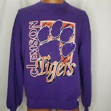 Vintage Clemson Tigers Russell Athletic Sweatshirt Purple Orange White XL USA