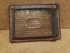 Fossil Brown Leather Money Clip/Card Holder