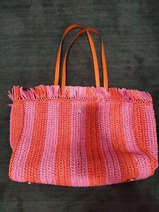 Kate Spade Raffia And Leather Tote Bag