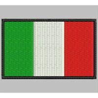 Parche Bordado Bandera de ITALIA / Embroidery patch Flag of  ITALY..