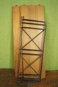 60er Bookcase Vintage String Shelf Walnut Wall Shelf Danish Shelf System 10
