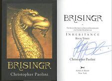Christopher Paolini SIGNED AUTOGRAPHED Brisinger HC RARE 1st Ed/ 1st Print NEW