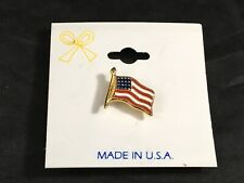 USA Flag Pin Patriotic Enamel Lapel Pin Red White & Blue Americana Memorial Day