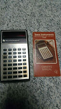 Vintage Texas Instruments Ti-30 electronic slide-rule calculator w/ manual