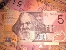 Rare 2001 Federation McFarlane/Evans $5 Dollar Bank note A/unc #FM01831409