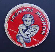 Etiquette fromage MIGNON bébé baby bambino french cheese label 1