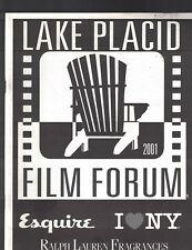 Lake Placid NY Film Forum 2001 Program Cider House Rules Moonstruck