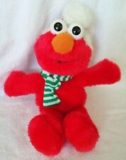 """Plush Christmas Elmo With Scarf 18"""" Tyco From 1997"""