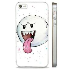 Super Mario Nintendo Boo Ghost claro caso cubierta teléfono se ajusta iPHONE 5 7 8 X 6
