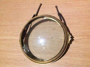 ANTIQUE BRASS CLOCK BEZEL ROUND CONVEX BEVELLED GLASS STRAPS FIT 107mm APPERTURE