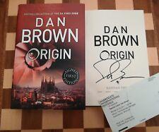 Origin SIGNED Dan Brown Hardback 2017 1st edition 1st impression + Event Ticket