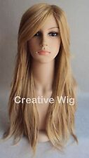 Fashion Long Strawberry Blonde Nice Layers Women Girls Heat Resistant Hair Wig