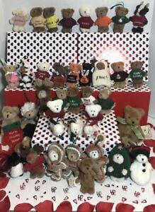 Retired Lot of 41 Boyd's Bears Plush Mini Bears
