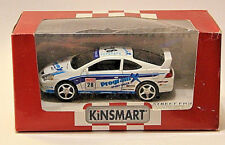 New Kinsmart Diecast Car 12cm Honda Intergra Type R White Pull Back Action