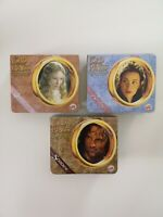 3 Boxed Fellowship Of The Ring Burger King Figures Cards Arwen Strider Galadriel