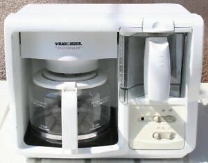 Black & Decker Spacemaker 12 Cup Coffee Maker White NO BRACKETS INCLUDED