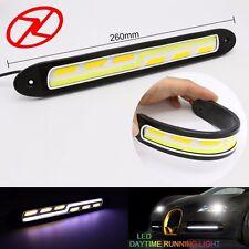 2PCS car accessories LED DRL Waterproof Daytime Running Light Yellow turn signal