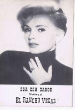 El Rancho Vegas Casino Zsa Zsa Gabor Sexy Actress Postcard Las Vegas Nevada 1960