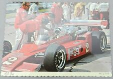 A J FOYT POSTCARD INDY RACE CAR RACING 500 # 2 ITT THOMPSON USAC CHAMPION
