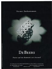 PUBLICITE ADVERTISING   2010   DE BEERS  joaillerie