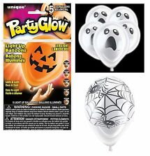 Halloween Glow Light Up Balloons Pack of 5 LED Party Supplies Decorations