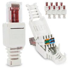10x Netzwerk Stecker RJ45 Cat6 Cat7 Cat5 LAN Kabel werkzeuglos Netzwerkstecker