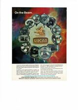 LUCAS Automotive Electrical Equipment Vintage Car Headlamps Light Beam Ad Print