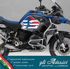 2 Adesivi Fianco Serbatoio Moto BMW R 1200 gs adventure LC 2018 red & blu line