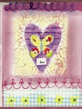 Pink Hearts & Flowers for Girls - 60 feet FREE USA SHIP - Wallpaper Border A043