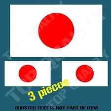 JAPAN JAPANESE NATIONAL FLAG DECAL STICKER HARD HAT VEHICLE HELMET STICKERS