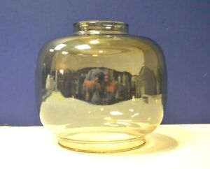 """6"""" Tall 3"""" Fitter CLEAR CONTEMPORARY SMOKE Light GLOBE Replacement GLASS 820147"""