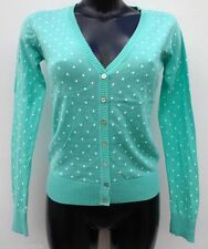 Button V Neck Spotted Jumpers & Cardigans for Women