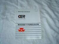 Massey Ferguson bearing and seals manual