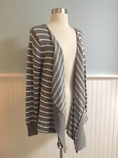 Size XL Apt 9 Womens Gray Open Waterfall Front Cardigan Sweater NEW Extra Large