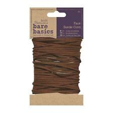 Papermania Bare Basics-in Finta Pelle Scamosciata Marrone Craft Cord Trim - 4 METRI