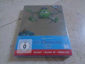 MONSTERS UNIVERSITY 3 BLU-RAY DISC 3D Blu-ray SteelBook *NEW & SEALED* DISNEY