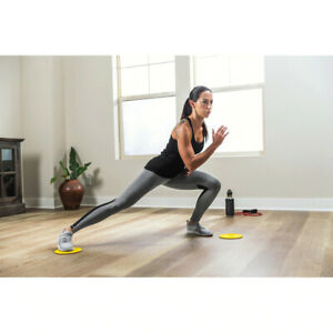 SKLZ Functional Core Stability Exercise Sliders - Black/Yellow