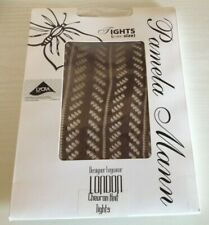 Pamela Mann London One Size - Chocolate - Chevron Knit Tights