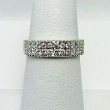 Dazzling 1/2ctw Genuine Diamond 14k White Gold Anniversary Ring Band (6858)