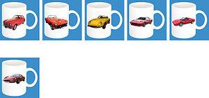 300ml Keramik Becher mit Motiv: Ferrari Auto Modelle Kaffee Tasse Car