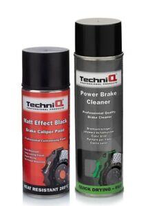 Brake Caliper Paint MATT BLACK FINISH 260°C + 500ml Power Brake Cleaner Spray