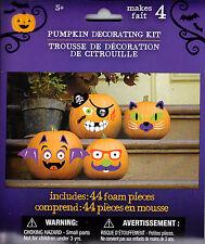 New Halloween Pumpkin Decorating Kit Makes 4 ~ Foam Stickers FREE SHIPPING